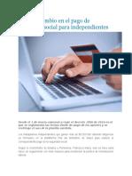 ABC Del Cambio en El Pago de Seguridad Social Para Independientes