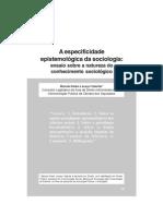 especifidade epistemológica da sociologia _ valente