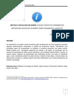método e sociologia em weber _ oliveira