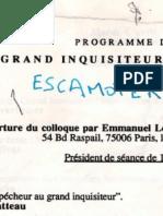 """Le Grand Inquisiteur..."" colloque, 5-6.04.1993"