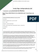 Sala Plena SENTENCIA No 009_2004 Del 14 de Enero de 2004 » Derechoteca