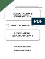 89001562 Lenguaje de Programación
