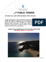 JSB Tender Concession Tender Package