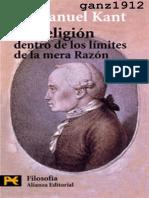 KANT La Religion Dentro de Los Limites de La Razon LIBRO PDF