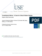 "Constituting Folklore, ""Critical Folk Studies"""