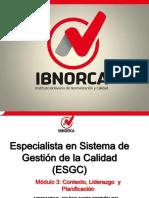 Planificación de Sistemas de Gestión de Calidad NB-IsO 9001