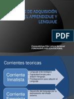 Unidad I Teorias Del Aprendizaje y de Adquición Del Lenguaje