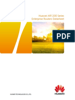 HUAWEI AR1200 Series Enterprise Routers Datasheet