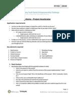 RYSEC 2010 - Judging Criteria _Project Accelerator