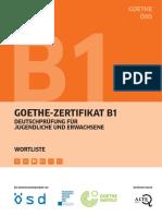 Goethe-Zertifikat B1 Wortliste Deutsch