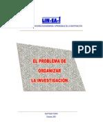 El Problema de Organizar La Investigacion