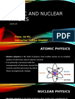 Atomic and Nuclear Physics