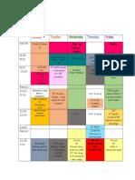 schedule week 3