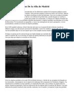 Los Objetos Perdidos De la villa de Madrid
