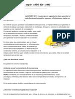 Ambiente de Trabajo Según La ISO 90012015