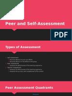 peer and self-assessment