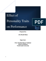 Effect of Personality Traits on Performance- Case of Bangladesh.pdf