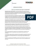 09/01/17 SAGARHPA Apoyará a Los Productores Para Lograr La Competitividad -C.011735