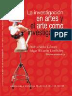 La Investigacion en artes y el arte como investigacion