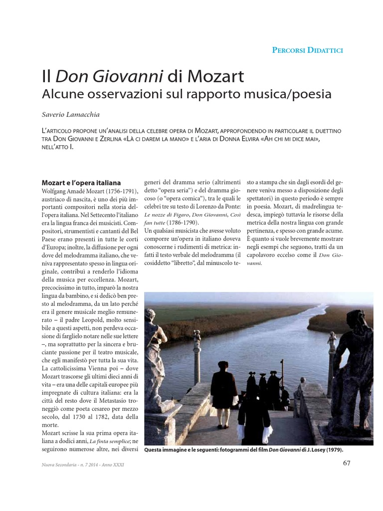 celebre opera di mozart