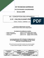 BTS ROC Calculs Avant Projet 2009