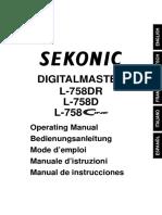 Sekonic l 758 Spanish