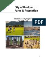 2016 PR Seasonal Employee Orientation Packet