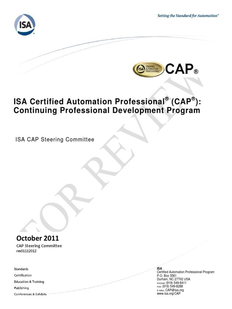 Cap Continuing Professional Development Program Professional