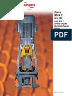 Flowserve Pumps Durco Mark 3 Ansi Inline Overhung