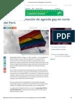 Denuncian Promoción de Agenda Gay en Norte Del Perú