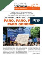 Boletín Nacional de la Agrupación Naranja de docentes e investigadores universitarios
