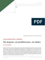 Serge Halimi. Sin Dogmas, Sin Prohibiciones, Sin Tabúes. El Dipló. Edición Nro 209. Noviembre de 2016