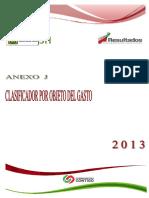 2013 clasificador