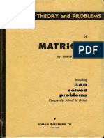Theory Problems of Matrices - Schaum - Frank Ayres