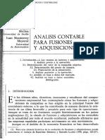 Análisis Contable Para Fusiones y Adquisiciones