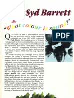 Syd Barrett - What Colour is Sound