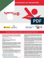 Folleto Discapacidad Renta 2015