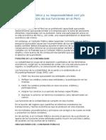 El Contador Publico y Su Responsabilidad Civil y