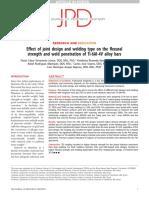 1 Efecto Del Diseño de La Junta y Del Tipo de Soldadura Sobre La Resistencia a La Flexión y La Penetración de La Soldadura de Las Barras de Aleación Ti-6Al