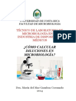 Diluciones en Microbiología 2015