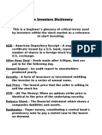 The Investors Dictionary