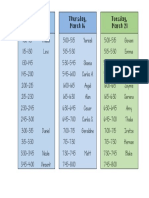 conference times