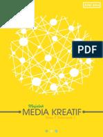 Majalah Media Kreatif Kelas F Kelompok 1 Ilkom 2015