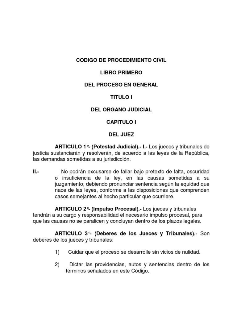 LEY 12760 Codigo de Procedimiento Civil BOLIVIA