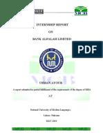 MCB Internship Report 2010 NUML
