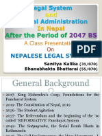 Nepalese Legal System Presentation on Legal System and Judicial Administration in Nepal After the Period of 2047 BS by Sanitya Kalika and Bhanubhakta Bhattarai