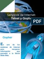 1.2 Gopher y telnet