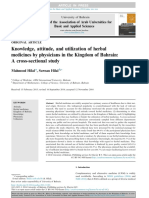 Knowledge, attitude, and utilization of herbal medicines by physicians in the Kingdom of Bahrain