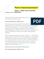 What is Pure Consciousness?