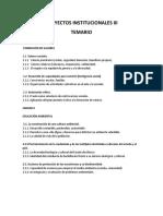 Proyectos Institucionales III Temario